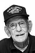 Richard H. Kerr<br /> Navy<br /> E-7/O-4<br /> Deiselman<br /> Fireman<br /> Yoeman<br /> Administrator <br /> 11/08/43-06/30/73<br /> WWII, Korea, Vietnam (Pacific)<br /> <br /> Veterans Portrait Project Photo by Stacy L. Pearsall
