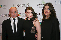 Barry McGuigan, Nika McGuigan and Sandra McGuigan at the Lincoln film premiere Savoy Cinema in Dublin, Ireland. Sunday 20th January 2013.