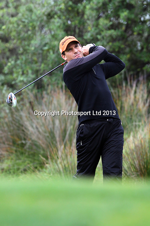 Luke Nobilo, The Charles Tour, Day 1 of the ask metro Muriwai Open. Muriwai Golf Course, Auckland. 9 May 2013. Photo: William Booth/photosport.co.nz