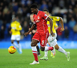 Cardiff City's Bruno Ecuele Manga in action against Brentford - Photo mandatory by-line: Paul Knight/JMP - Mobile: 07966 386802 - 20/12/2014 - SPORT - Football - Cardiff - Cardiff City Stadium - Cardiff City v Brentford - Sky Bet Championship