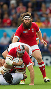 Leicester, Great Britain, Prop Hubert BUYDENS supports skipper Jamie CUDMORE, with the ball, during the Pool D game, Canada vs Romania.  2015 Rugby World Cup,  Venue, Leicester City Stadium, ENGLAND.  Tuesday    06/10/2015.   [Mandatory Credit; Peter Spurrier/Intersport-images]