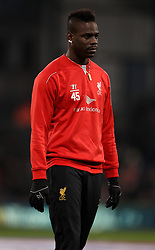 Liverpool's Mario Balotelli warms up - Photo mandatory by-line: Robbie Stephenson/JMP - Mobile: 07966 386802 - 14/02/2015 - SPORT - Football - London - Selhurst Park - Crystal Palace v Liverpool - FA Cup - Fifth Round