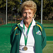 Elsie Crowe, Australia, Semi Finalist, 80 Womens Singles competition during the 2009 ITF Super-Seniors World Team and Individual Championships at Perth, Western Australia, between 2-15th November, 2009