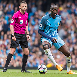 Manchester City midfielder Yaya Toure (42) on the ball<br /> in the English Premier League match between Manchester City and Crystal Palace<br /> (c) John Baguley | SportPix.org.uk