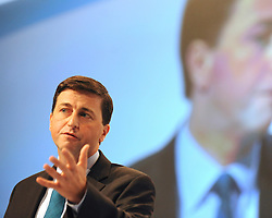 © Licensed to London News Pictures. 26/09/2011. LONDON, UK. Douglas Alexander, Shadow Foreign Secretary at The Labour Party Conference in Liverpool today (26/09/11). Photo credit:  Stephen Simpson/LNP