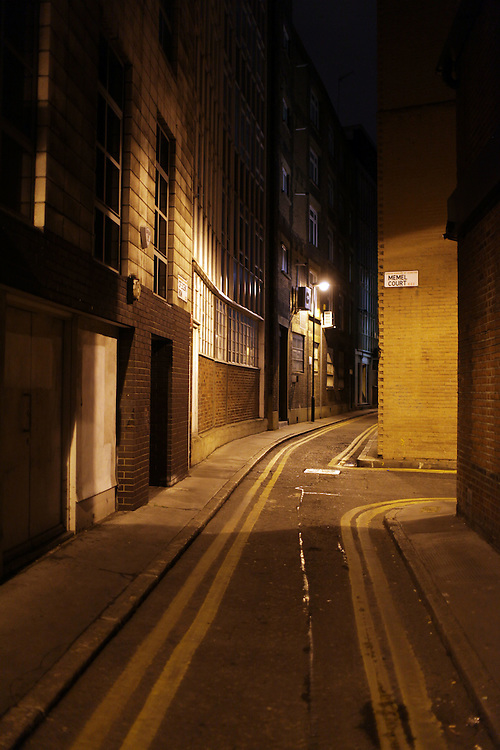 "Night photos from a personal project called ""In search of the streets paved with gold"""