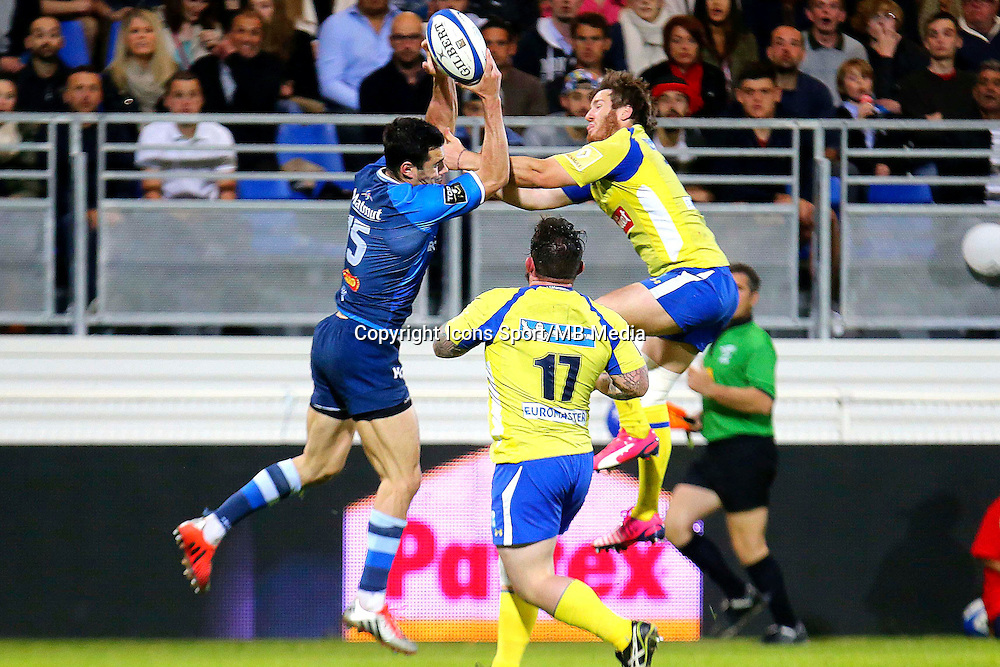 Geoffrey Palis / Camille Lopez - 25.04.2015 - Castres / Clermont - 23eme journee de Top 14<br />