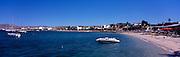 Panoramic view of Bahia La Paz, the beach and Malecon, La Paz, Baja California Sur, Mexico