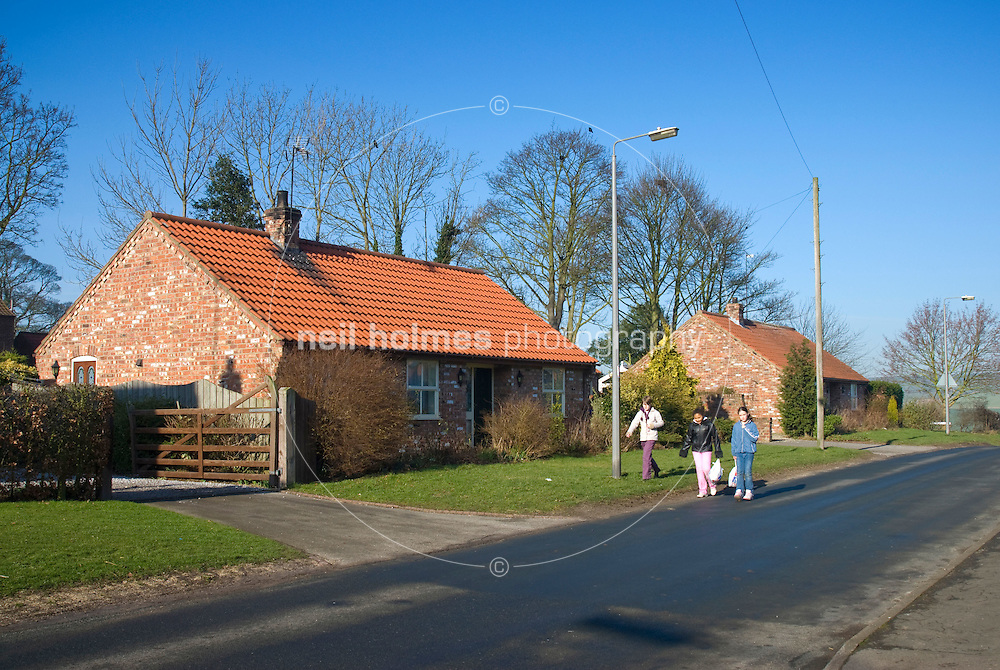 Bungalows on Station Hill, Wetwang Village East Yorkshire
