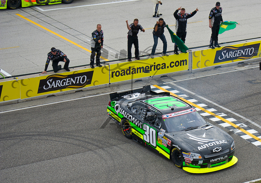 Elkhart Lake,WI - JUN 23, 2012:   Nelson Piquet Jr. (30) wins the Sargento 200  at Road of America in Elkhart Lake , WI.