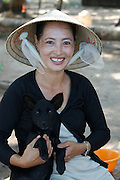 Phu Quoc Island. Bai Thom. The famous crested Phu Quoc dogs.