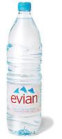 evian bottled water