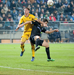 14.12.2011, UPC Arena, Graz, AUT, UEFA Europa League , Sturm Graz vs AEK Athen FC, im Bild George Popkhadze (SK Puntigamer Sturm Graz, #2) und Nathan Burns (AEK Athen FC, Midfield, #24) // during UEFA Europa League football game between Sturm Graz and AEK Athens FC at UPC Arena in Graz, Austria on 14/12/2011. EXPA Pictures © 2011, PhotoCredit: EXPA/ E. Scheriau