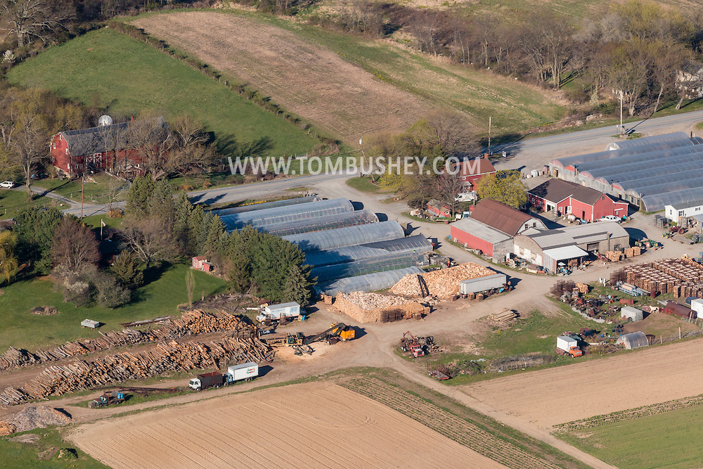 Montgomery, New York - An aerial view of Hoeffner Farms on April 20, 2016. The family-owned farm has been operating since 1917.