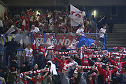 DESCRIZIONE : Cremona Lega A 2014-2015 Vanoli Cremona Giorgio Tesi Group Pistoia<br /> GIOCATORE : Tifosi Supporters<br /> SQUADRA : Giorgio Tesi Group Pistoia<br /> EVENTO : Campionato Lega A 2014-2015<br /> GARA : Vanoli Cremona Giorgio Tesi Group Pistoia<br /> DATA : 08/02/2015<br /> CATEGORIA : Tifosi Supporters<br /> SPORT : Pallacanestro<br /> AUTORE : Agenzia Ciamillo-Castoria/F.Zovadelli<br /> GALLERIA : Lega Basket A 2014-2015<br /> FOTONOTIZIA : Cremona Campionato Italiano Lega A 2014-15 Vanoli Cremona Giorgio Tesi Group Pistoia<br /> PREDEFINITA : <br /> F Zovadelli/Ciamillo