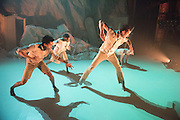 Hubert Essakow's Terra has its World Premiere on 23 February and runs until 12 March. It will be the first dance performance in the main auditorium of the Print Room's new home, the Coronet in Notting Hill. Essakow sends his dancers on a journey through the shifting horizons and changing seasons of an increasingly unpredictable earth.  The set designs by Belgian visual artists Sofie Lachaert and Luc d'Hanis evoke a bleak landscape of sand and rock. Picture features dancers Rob Bridger, Luke Crook & Monique Jonas.