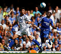 Photo: Richard Lane/Sportsbeat Images. <br />Chelsea v Birmingham. Barclay's Premiership. 12/08/2007. <br />Birmingham's Stephen Kelly and Chelsea's Shaun Wrigh-Phillips challenge for the ball.