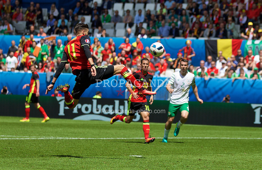 BORDEAUX, FRANCE - Saturday, June 18, 2016: Belgium's Yannick Ferreira Carrasco in action against Republic of Ireland during the UEFA Euro 2016 Championship Group E match at Stade de Bordeaux. (Pic by Paul Greenwood/Propaganda)
