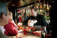 Joel Robuchon at l'Atelier, his casual restaurant in Paris