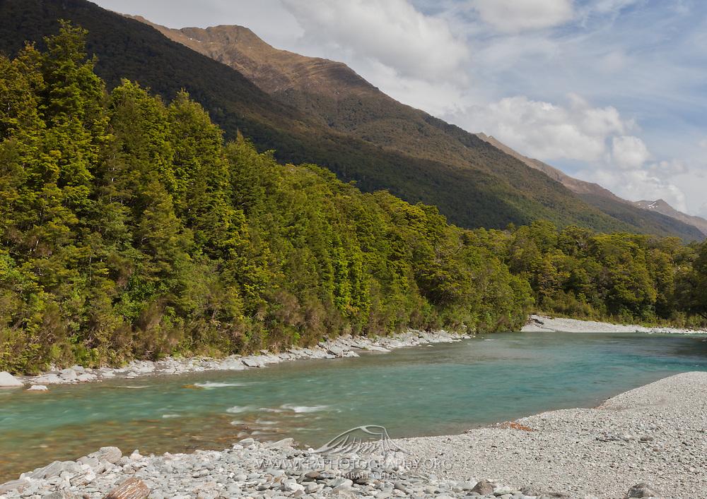 Blue Pools of Haast, Westland, New Zealand