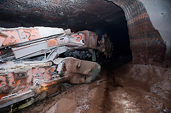 A continuous miner in Boulby Potash mine
