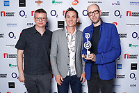 The Chemical Brothers pose backstage during the O2 Silver Clef Awards 2019, Grosvenor House, London, UK, Friday 05 July 2019<br /> Photo JM Enternational
