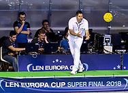 Achladiotis - Referee<br /> SRB - MNE Serbia (white cap) Vs. Montenegro (blue cap)<br /> LEN Europa Cup Men 2018 finals<br /> Water Polo, Pallanuoto<br /> Rijeka, CRO Croatia<br /> Day01<br /> Photo &copy; Giorgio Scala/Deepbluemedia/Insidefoto