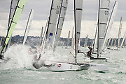 Chris Nicholson (AUS 1003), race eight of the A Class World championships regatta being sailed at Takapuna in Auckland. 15/2/2014