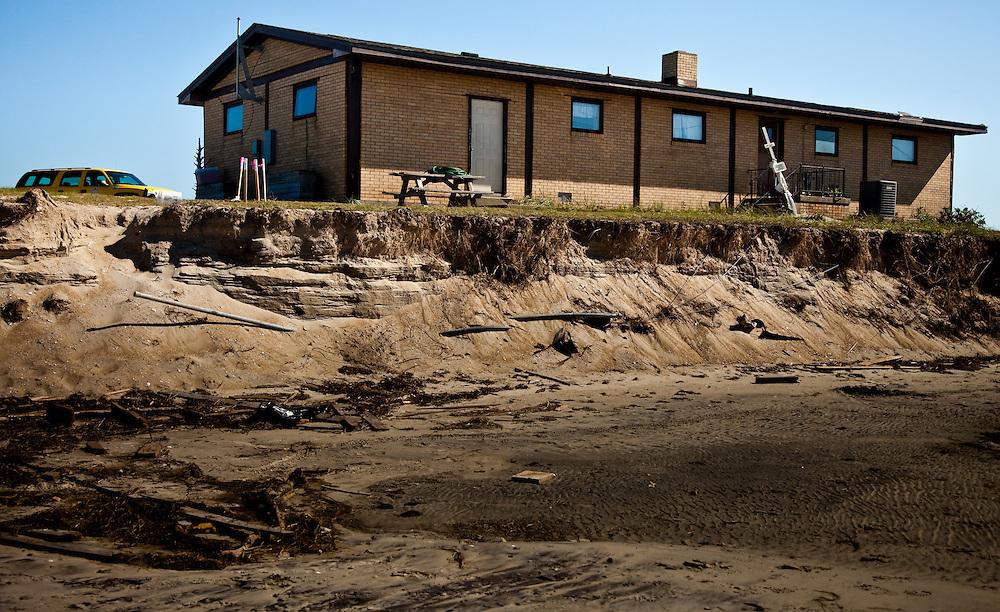 Pea Island was hit hard by Hurricane Irene
