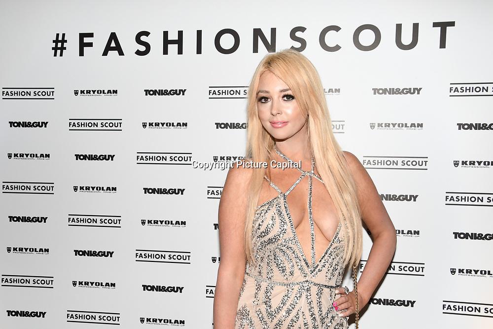 Jodie Weston is a Actress, Model, Dancer, DJ attend the Fashion Scout - SS19 - London Fashion Week - Day 1, London, UK. 14 September 2018.