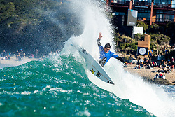 Jul 17, 2017 - Jeffries Bay, South Africa - Rookie Ezekiel Lau of Hawaii advances to Round Three of the Corona Open J-Bay after defeating Wiggolly Dantas of Brazil in Heat 11 of Round Two in pumping Supertubes. (Credit Image: © Kelly Cestari/World Surf League via ZUMA Wire)