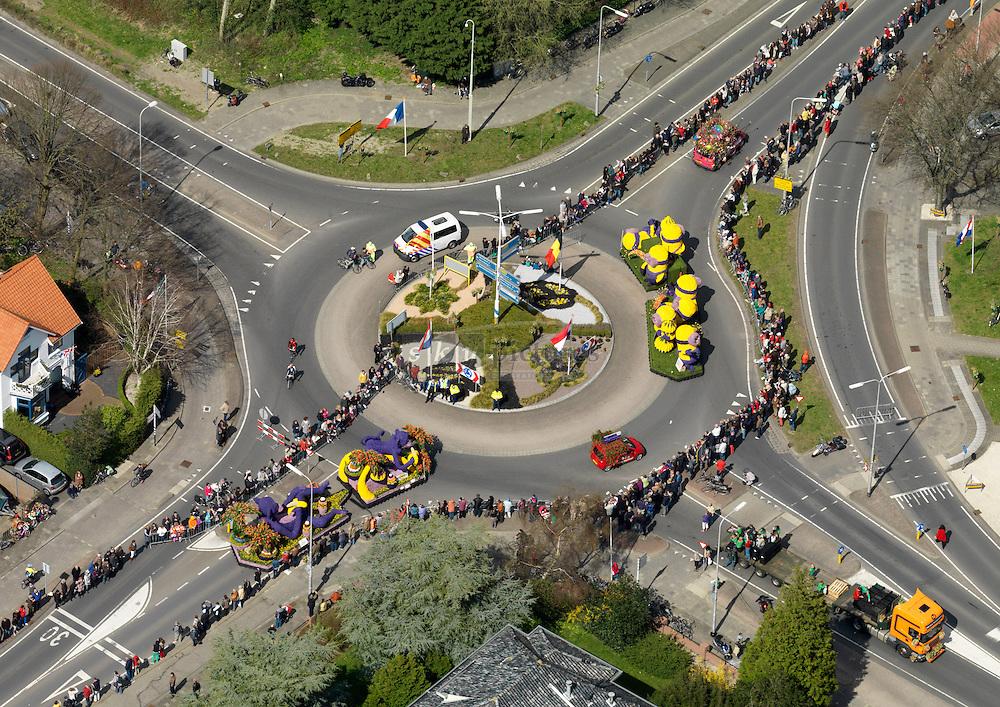Bloemencorso in de bollenstreek wordt gehouden op de eerste zaterdag na 19 april en rijdt van Noordwijk via Noorwijkerhout, Sassenheim, Lisse, Hillegom, Bennebroek en Heemstede naar Haarlem.