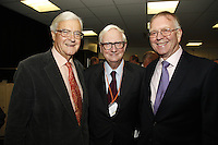 Lord Baker of Dorking, Sir Cyril Taylor CBE and John Deacon CBE. The BRIT School Industry Day, Croydon, London..Thursday, Sept.22, 2011 (John Marshall JME)