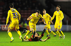 Ollie Clarke of Bristol Rovers is fouled by George Dobson of Walsall - Mandatory by-line: Nizaam Jones/JMP - 26/12/2018 - FOOTBALL - Banks's Stadium - Walsall, England- Walsall v Bristol Rovers - Sky Bet League One