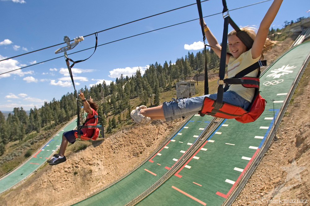 Ultra zipline Ziprider at Utah Olympic Park
