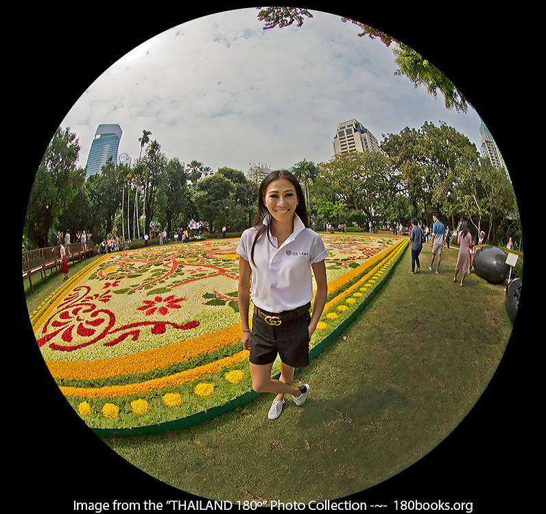 Khun Lek with the Largest Floral Carpet Ever Created in Asia