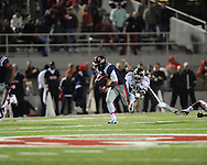 Ole Miss running back Jeff Scott (3) vs. Texas A&M defensive back Deshazor Everett (29) in Oxford, Miss. on Saturday, October 6, 2012. Texas A&M won 30-27...