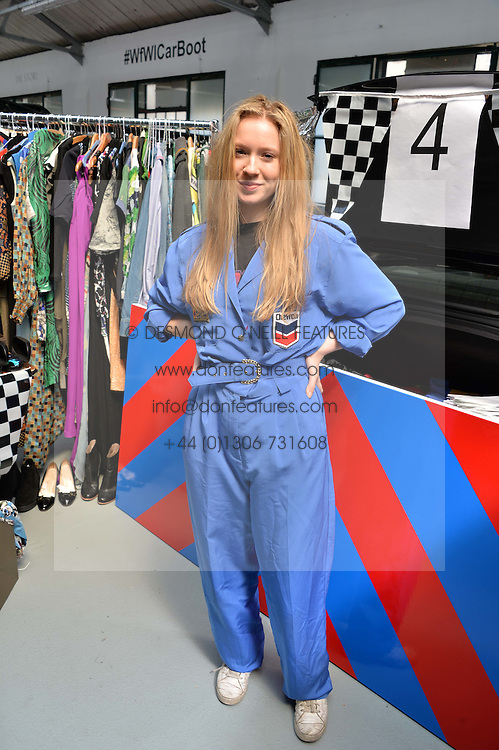 EVA MILLER at #SheInspiresMe Car Boot Sale in Aid of Women for Women International held at the Brewer Street Carpark, Soho, London on 23rd April 2016.