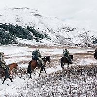 bighorn sheep hunting mountains horsesback hunting