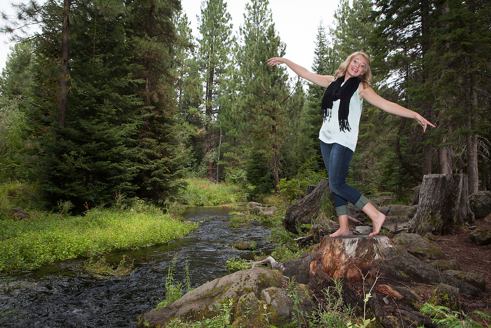 Portraits of Kaylee Anderson at Black Butte in Central OR, 2013.