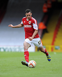 Bristol City's Greg Cunningham  - Photo mandatory by-line: Joe Meredith/JMP - Tel: Mobile: 07966 386802 14/09/2013 - SPORT - FOOTBALL -  Ashton Gate - Bristol - Bristol City V Peterborough United - Sky Bet League One