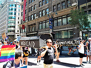 The Group Act-Up Marching in Pride March New York City 2017