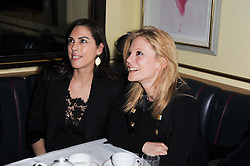 Left to right, JESSICA DE ROTHSCHILD and EMILIA FOX at a cabaret evening at Bellamy's, Bruton Place, London on 22nd March 2010.