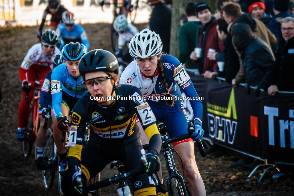 JAMES Ffion (GBR) during Women Elite race, UCI Cyclo-cross World Cup #8 at Hoogerheide, Noord-Brabant, The Netherlands, 22 January 2017. Photo by Pim Nijland / PelotonPhotos.com | All photos usage must carry mandatory copyright credit (Peloton Photos | Pim Nijland)