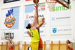 Chatrice White of ZKK Cinkarna Celje in action during basketball match between ZKK Cinkarna Celje (SLO) and MBK Ruzomberok (SVK) in Round #6 of Women EuroCup 2018/19, on December 13, 2018 in Gimnazija Celje Center, Celje, Slovenia. Photo by Urban Urbanc / Sportida