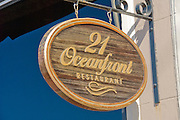 McFadden Square, 21 Oceanfront restaurant, sign