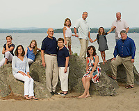 Suzanne Rickard and family Long Island Beach, Moultonboro, NH  © Karen Bobotas Photographer