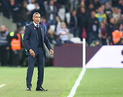 October 20, 2017 - London, England, United Kingdom - Brighton & Hove Albion manager Chris Hughton .during Premier League match between West Ham United against Brighton and Hove Albion at The London Stadium, Queen Elizabeth II Olympic Park, London, Britain - 20 Oct  2017  (Credit Image: © Kieran Galvin/NurPhoto via ZUMA Press)