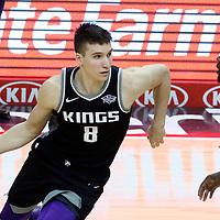 26 December 2017: Sacramento Kings guard Bogdan Bogdanovic (8) drives during the LA Clippers 122-95 victory over the Sacramento Kings, at the Staples Center, Los Angeles, California, USA.