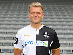 14.07.2015, Scholz Arena, Aalen, GER, 2. FBL, VfR Aalen, Fototermin, im Bild Thorsten Schulz ( VfR Aalen ) // during the official Team and Portrait Photoshoot of German 2nd Bundesliga Club VfR Aalen at the Scholz Arena in Aalen, Germany on 2015/07/14. EXPA Pictures © 2015, PhotoCredit: EXPA/ Eibner-Pressefoto/ Langer<br /> <br /> *****ATTENTION - OUT of GER*****